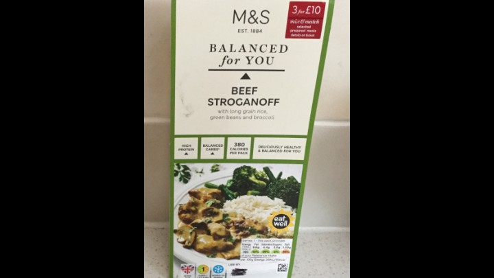 A Week On Ready Meals From Marks And Spencer - Day 4 Beef Stroganoff
