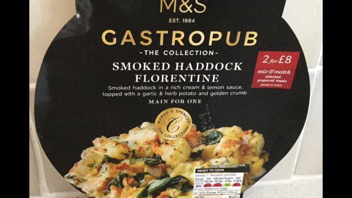 A Week On Ready Meals From Marks And Spencer - Day 3 Smoked Haddock Florentine