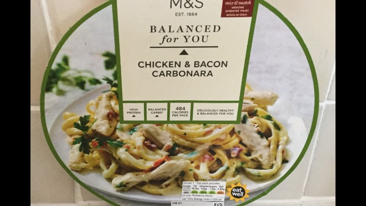 A Week On Ready Meals From Marks And Spencer - Day 2 Chicken & Bacon Carbonara