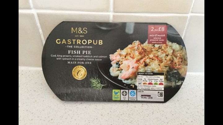A Week On Ready Meals From Marks And Spencer -  Day 1 Fish Pie