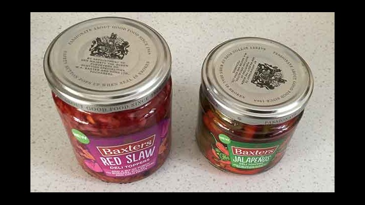 Great New Deli Toppers From Baxters! Red Slaw And Jalapenos!
