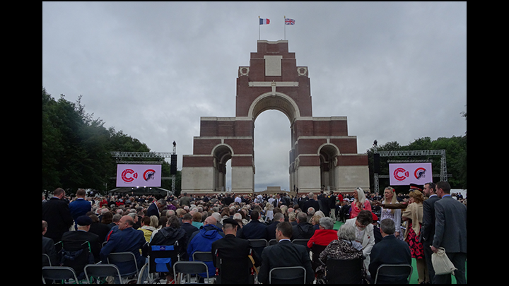 A Trip To The Ceremony in Thiepval for the 100 yr Anniversary Of The Battle Of The Somme on the 1st July 2016