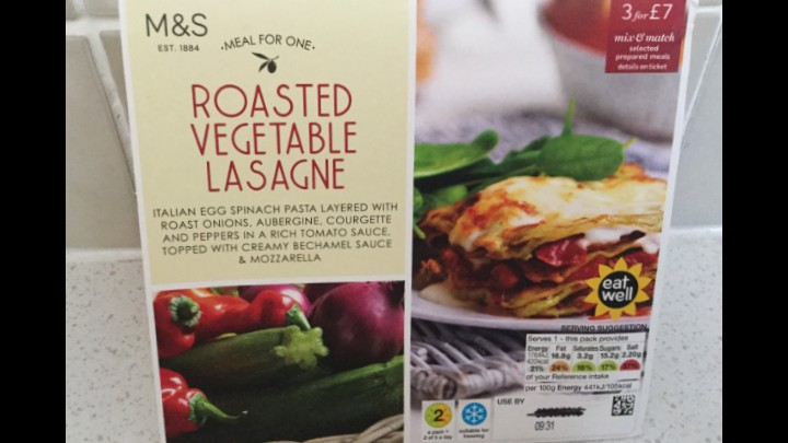 A Week On  Ready Meals From Marks And Spencer - Day 7 Roasted Vegetable Lasagne