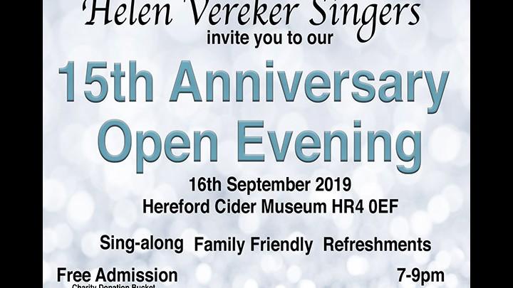 Helen Vereker Singers 15 Year Anniversary!