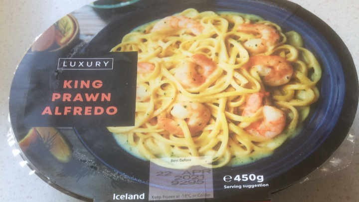 A Week On Ready Meals From Iceland - Day 1 King Prawn Alfredo