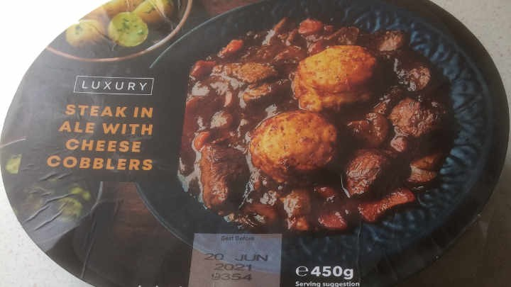A Week On Ready meals From Iceland Day 2 Steak In Ale With Cheese Cobblers