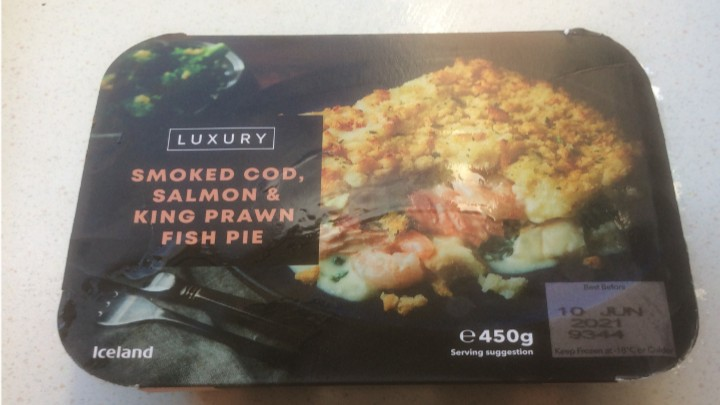 A Week On Ready Meals From Iceland Day 4 Smoked Cod Salmon & King Prawn Fish Pie