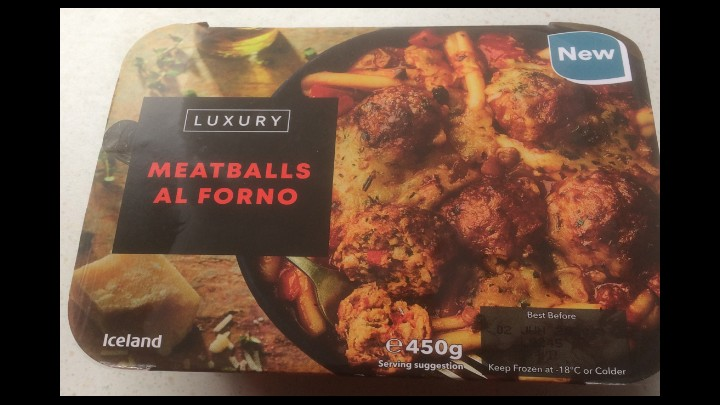 A Week On Ready meals From Iceland Day 7 Meatballs Al Forno
